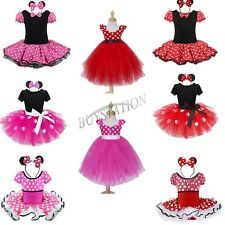 Toddler Baby Girls Cute Minnie Mouse Polka Dots Tutu Skirt Halloween Party Dress
