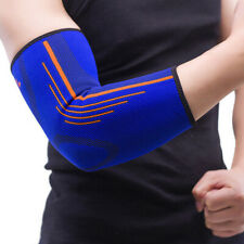 Sports Elastic Elbow Forearm Sleeve Compression Support Brace Injury Wrap Guard