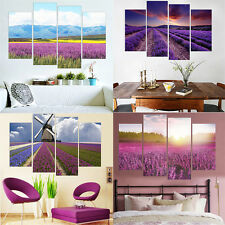4Pcs Modern Paintings Lavender Flowers World Canvas Painting Home Decor No Frame
