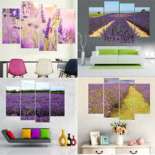 4Pcs Canvas Painting Lavender Wall Picture for Living Room Home Decor No Frame