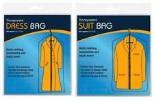Suit Dress Bag Clear Travel Garment Clothes Coat Jacket Cover Zip Dust Protector