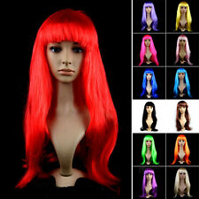 New Womens Lady Halloween Long Straight Hair Wig Consume Party Cosplay Full Wigs