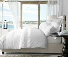 Jacinta Linen White Waffle 225TC Quilt Doona Cover Set - Double Queen King Euro
