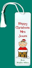 TEACHER'S Little Christmas Gift PERSONALISED METAL BOOKMARK Any Name