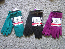 $40 NWT WOMENS ISOTONER LEATHER SUEDE CASUAL WINTER MICROLUXE LINING GLOVES L/XL