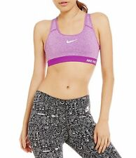 NIKE PRO WOMENS DRI-FIT PADDED SPORTS TRAINING TOPS BRA PURPLE # 589420-NWT