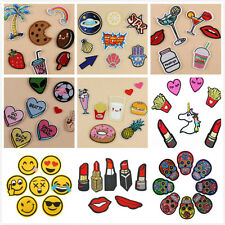 2pcs Cute Cartoon Embroidery Iron on Patch Sew Applique Embroidered Motif DIY