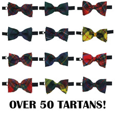 New Quality - 50+ Tartans - Tartan Bow Tie 100% Pure Wool Made in Scotland