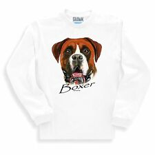 Long Sleeve T-shirt Adult Youth Nature Dog Breed Boxer Pet Lover