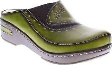 Spring Step Chino Green Women's Clog CHOOSE SIZE Casual Leather L'Artiste New