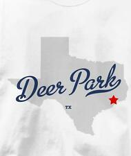 Deer Park, Texas TX MAP Souvenir T Shirt All Sizes & Colors
