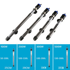 NEW 100/200/300/500W Aquarium Submersible Fish Tank Adjustable Water Heater 220V