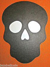12or24 BLACK/WHITE Sugar Skull die cut shapes 2 sizes Day of the Dead Halloween
