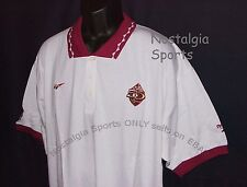Vintage 1996 SF 49ers 50th Anniv REEBOK Polo Shirt 3-Button SEWN NFL ProLine NWT