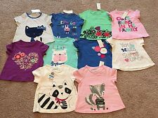 NEW Baby Girl First Impressions Short Sleeve Tees. Size 3-6, 12, 18, 24 Months