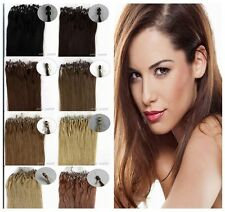 16''18''20'' Double Drawn Remy Loop Micro Ring Beads Tip Human Hair Extennsions