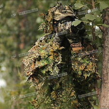 3D Leaf Adult Suit Woodland Camo Camouflage Hunting Shotting Birdwatching Jungle