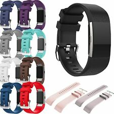 New Sport Silicone Wristband Band Strap Bracelet For Fitbit Charge 2 Smart Watch