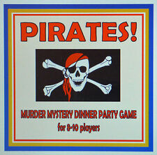 HOST A PIRATES MURDER MYSTERY DINNER PARTY GAME ~ FOR 8-10 PLAYERS