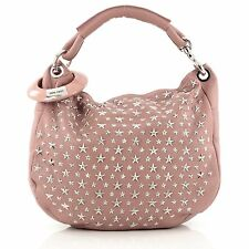 Jimmy Choo Solar Hobo Studded Leather Small