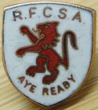 RANGERS Vintage SUPPORTERS ASSOCIATION badge Maker MANHATTAN PRODUCTS Stud pin