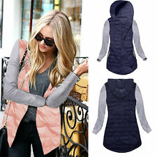 Fashion Womens Winter Cotton Coat Ladies Hooded Thin Zip Up Jacket Parka Outwear