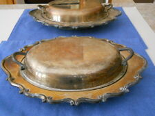 FB Rogers Silver Co Covered Oval Vegetable or Serving Dishes 2