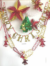 CHRISTMAS FOIL CEILING HANGING/BUNTING DECORATION ,XMAS FESTIVE HANGERS,BANNER