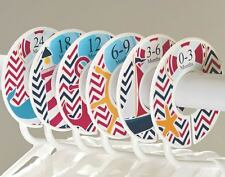 Nautical boy #c48 Baby Closet Dividers Clothes Organizers 6 chevron