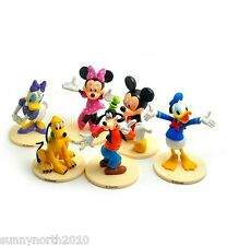 DISNEY CLUBHOUSE FIGURES MICKEY MINNIE DONALD DAISY CAKE TOPPERS TOYS RIBBON DIY