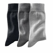 R Reference Mens Pack Of 3 Pairs Of Plain Cotton Rich Socks
