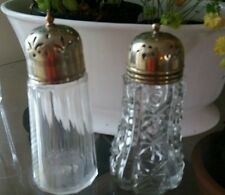Vintage Glass Sugar Sifter/Shaker with EPNS Top