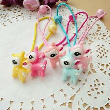10pcs/lot Cute Deer Hair clips Ponytail Holder accessories for Kids Baby Girls