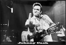 JOHNNY CASH - FRAMED MUSIC POSTER / PRINT (FLIPPING THE BIRD AT SAN QUENTIN)