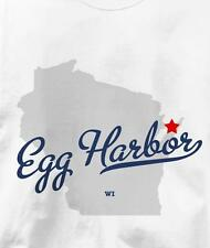 Egg Harbor, Wisconsin WI MAP Souvenir T Shirt All Sizes & Colors