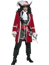 Pirate Captain Fancy Dress Costume Mens Red Pirate Costumes
