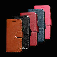 Genuine Real Cow Leather Folio Cover Case for Apple iPhone 7 , iPhone 7 Plus 7+