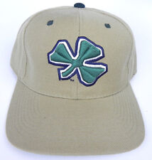 NOTRE DAME FIGHTING IRISH KHAKI NCAA VINTAGE FITTED SIZED ZEPHYR DH CAP HAT NWT!
