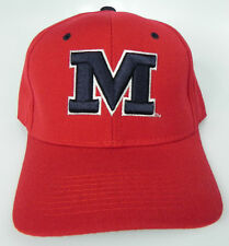 MISSISSIPPI OLE MISS REBELS RED NCAA VTG FITTED SIZED ZEPHYR DH CAP HAT NWT!