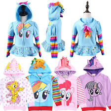 Girls Kid Toddler Hoodie My Little Pony Wing Cute Sweatshirt Zip Coat Jacket Top