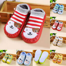 Newborn Cartoon Kids Toddler Baby Anti-slip Sock Shoes Boots Slipper Socks