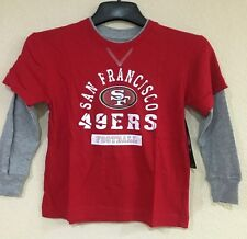 San Francisco 49ERS Toddler Long Sleeve T-shirt, Thermal Sleeves-Sizes -3T & M