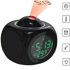 Wall Projection Alarm Clock with Voice Talking Snooze Function for Heavy Sleeper