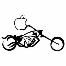 Apple motorcycle Decal Sticker for Macbook Air/Pro Laptop Tablet Car Window Bike
