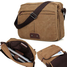 New Fashion Men's Canvas Briefcase Messenger Crossbody Shoulder Bag Laptop Pack