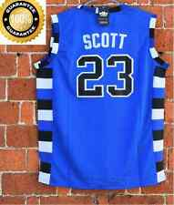 Nathan Scott 23 One Tree Hill Ravens Movie Basketball BLUE Jersey SEWN
