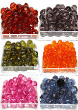 10 Crackle Beads Mixed Colours Jewellery Making Crafts Various Colour UK