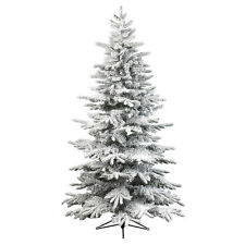 Snowy Alaskan Fir Artificial Christmas Tree - Variation of Sizes