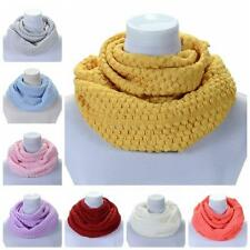 Fashion Women Ladies Winter Scarf Warm Cable Knit Cowl Neck Scarves Shawl Gifts