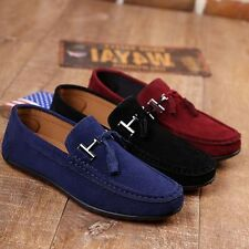 Loafers Slip On Flats Gommino Driving Shoes Moccasins Mens Suede Stylish Shoes